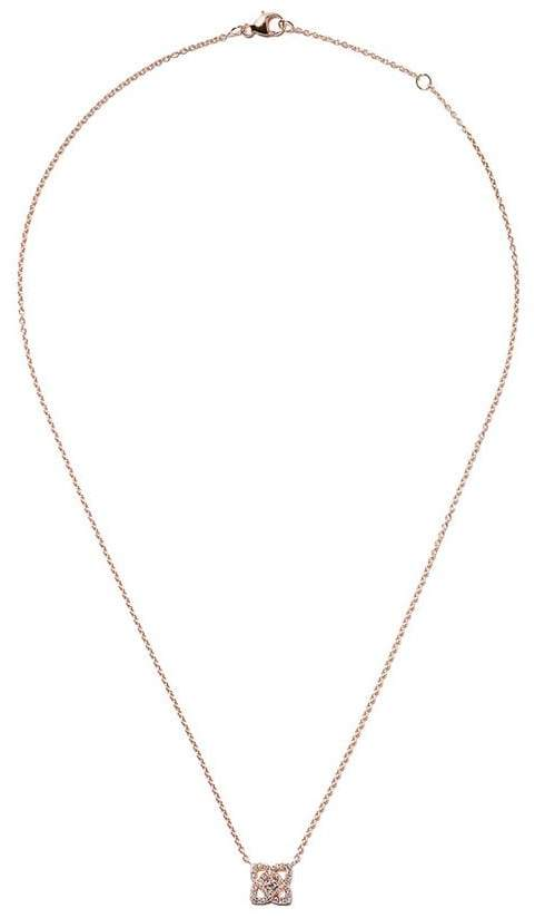 De Beers 18kt rose gold Enchanted Lotus diamond pendant necklace