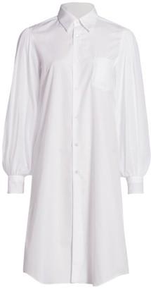 Comme des Garcons Puff-Sleeve Poplin Shirtdress