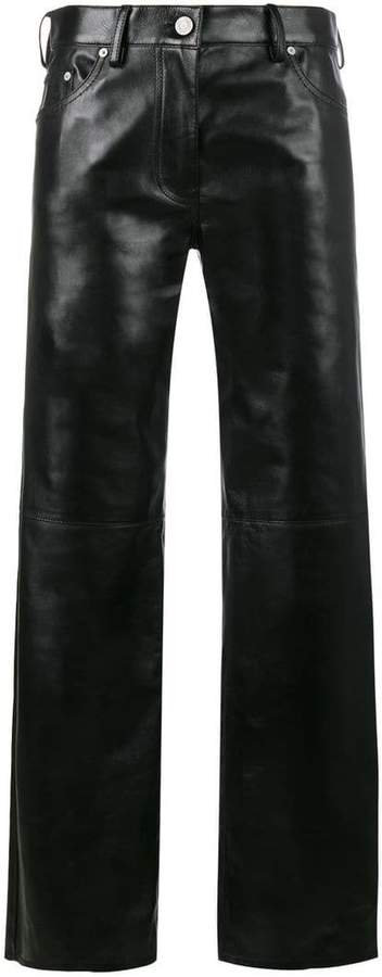 Calvin Klein Straight high waist leather trousers