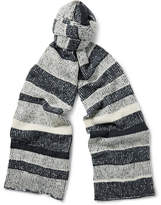 The Elder Statesman Striped Cashmere Scarf