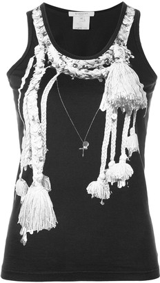 Givenchy Pre Owned Tassel Print Tank Top