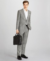 Brooks Brothers Milano Fit Three-Button Plaid 1818 Suit
