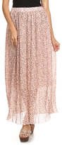 Light Pink Speckled Maxi Skirt - Plus Too