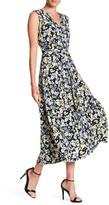 Chaus Bouquet Terrain Tie Waist Midi Dress