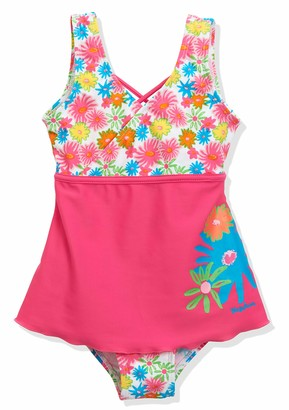 Playshoes Girl's Sun Protection Swimsuit with Ruffle Skirt Allower Flowers
