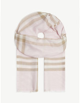 Burberry Giant check silk and wool scarf