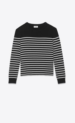 Saint Laurent Wool And Cotton Sweater Black M