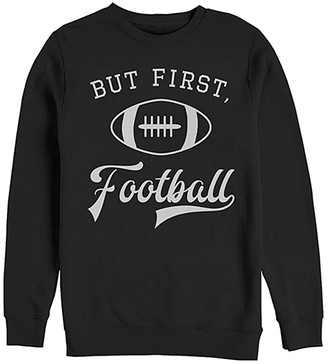 Chin Up Apparel Women's Sweatshirts and Hoodies BLACK - Black 'But First Football' Crewneck Sweatshirt - Women