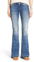 Mavi Jeans Petite Women's 'Peace' Distressed Stretch Flare Leg Jeans