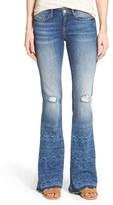 Mavi Jeans Women's 'Peace' Distressed Stretch Flare Leg Jeans