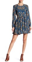 Romeo & Juliet Couture Long Sleeve Woven Printed Dress