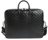 Gucci Men's Signature Leather Briefcase - Black