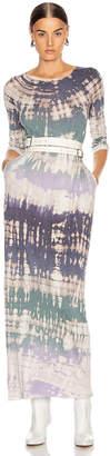 Raquel Allegra Half Sleeve Caftan in Violet Tie Dye   FWRD