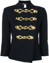 Pierre Balmain cropped sleeves jacket - women - Cotton - 36