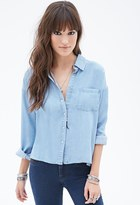 Forever 21 Boxy Collared Chambray Shirt