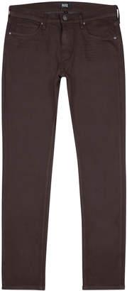 Paige Lennox Burgundy Slim-leg Jeans