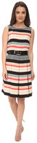 Tahari by Arthur S. Levine Petite Printed Twill Fit and Flare