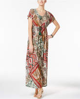 Style&Co. Style & Co Printed Maxi Dress, Only at Macy's