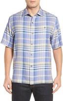 Tommy Bahama Manoa Original Fit Madras Plaid Silk Camp Shirt