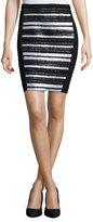 Haute Hippie Embellished-Front Pencil Skirt, Black