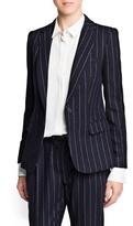 MANGO Outlet Pinstripe Wool-Blend Suit Blazer