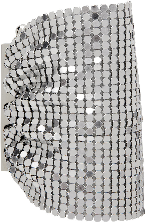 Thumbnail for your product : Paco Rabanne Silver Mini Mesh Pixel Cuff