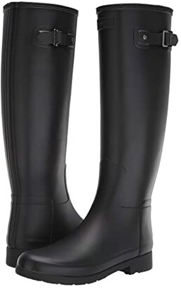 Hunter Refined Rain Boots (Black) Women's Boots