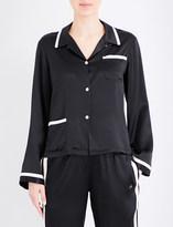 Morgan Lane Ruthie silk-charmeuse pyjama top