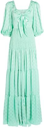 PatBO Crepe Tie-Front Maxi Dress