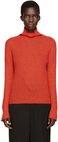 Cédric Charlier Red Mohair Turtleneck