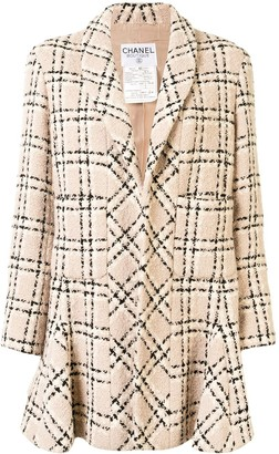 Chanel Pre Owned Checked Textured Jacket