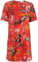 Diane von Furstenberg waxed floral print dress