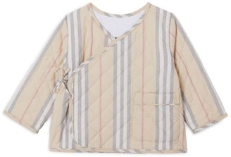 Burberry Kids Icon Stripe Wrap Jacket