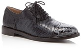 Marc Jacobs Clinton Snake-Embossed Lace Up Oxfords