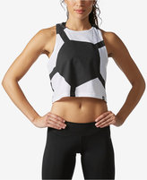 adidas Cropped Racerback Soccer Tank Top