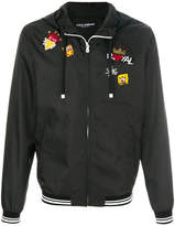 Dolce & Gabbana royal patch hooded jacket