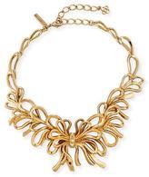 Oscar de la Renta Sculpted Golden Bow Necklace