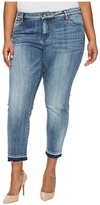 KUT from the Kloth Plus Size Reese Ankle Straight Leg in Motive/Medium Base Wash Women's Jeans