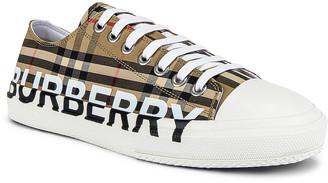 Burberry Larkhall Logo Low Top Sneaker in Archive Beige | FWRD