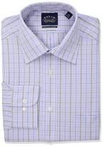 Eagle Men's Non Iron Regular Fit Plaid Spread Collar Dress Shirt