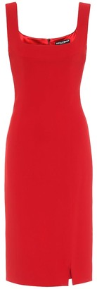 Dolce & Gabbana Stretch-crepe midi dress