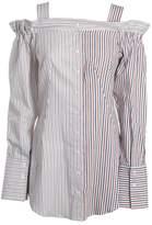 Dondup Striped Off Shoulder Shirt