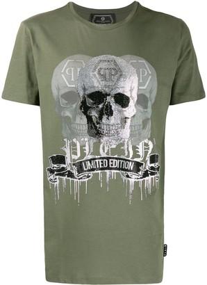 Philipp Plein Crystal skull logo T-shirt