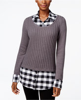 Style&Co. Style & Co Petite Layered-Look Sweater, Only at Macy's