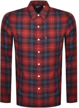 Levi's Levis Long Sleeved Sunset One Pocket Shirt Red