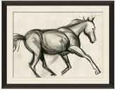 Bloomingdale's Wendover Art Group Charcoal Sketch Horse Artwork