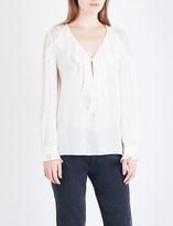 Paige Celesse silk-georgette blouse