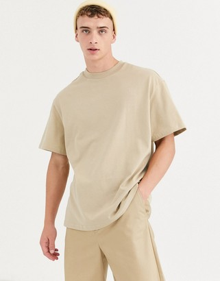 Weekday relaxed fit t-shirt in beige