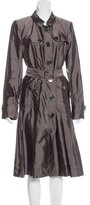 Burberry Silk-Blend Trench Coat