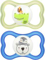 Mam Air Silicone Pacifier, Blue, 6 Plus Months, 2-Count